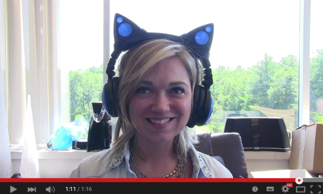Cat-ear headphones prototype shown for the first time in preview video