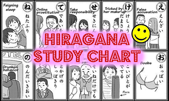 Japanese mental clinic's hiragana alphabet chart is as humorous as it is educational