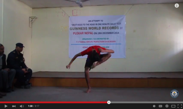 Watch this man break the Guinness World Record for kicking himself in the head 【Video】