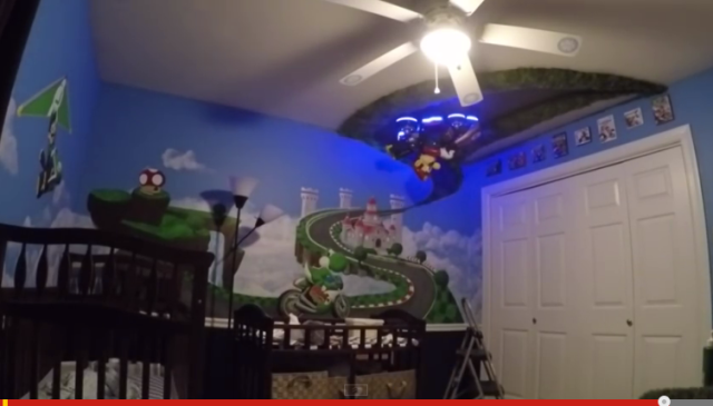 Awesome father creates Mario Kart 8-themed nursery for newborn son【Video】
