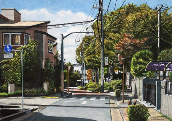 Artist's amazing colored pencil drawings of Tokyo scenes look like actual photographs