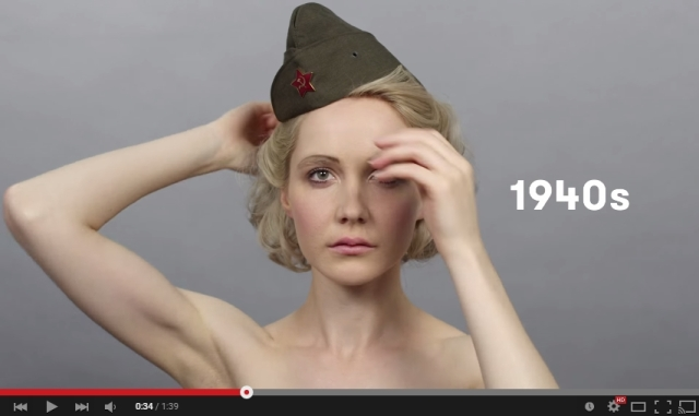 How have Russian beauty trends changed over the last hundred years?【Video】