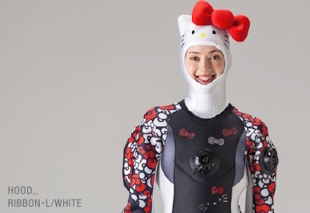 Hello, Underwater Kitty!? This limited edition Kitty-chan diving suit is all kinds of cute