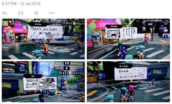 More tributes to Nintendo's Satoru Iwata pour into popular Wii U game Splatoon