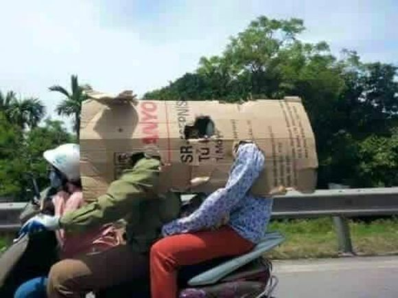 The ingenious (and ridiculous) ways the Vietnamese are fending off the crippling summer sun