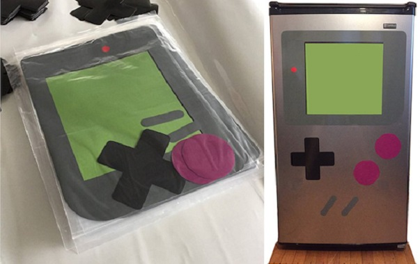 Transform your fridge or washing machine into a giant Nintendo Game Boy with the power of magnets!