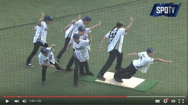 South Korean dancers stun baseball fans with an unexpected, gravity-defying first-pitch【Video】