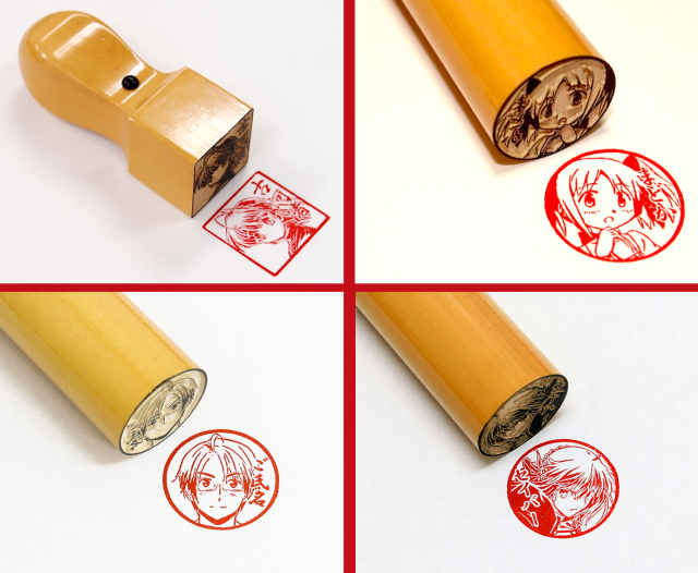 Online shop's anime character personal seals look awesome, can be used for legal paperwork