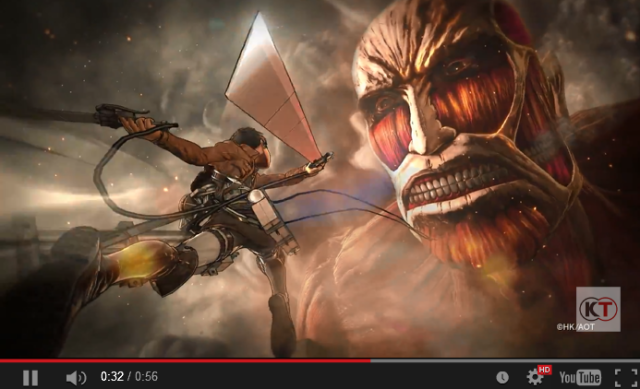 New Attack on Titan game coming to PlayStation 4 from Koei Tecmo 【Video】