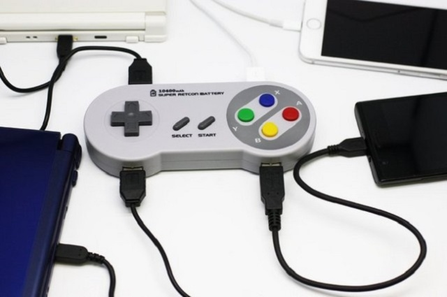 New Super NES controller battery pack brings some retro street cred to your mobile charging needs