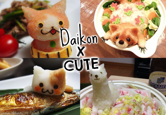 Beat the heat with these 14 adorable daikon dishes!