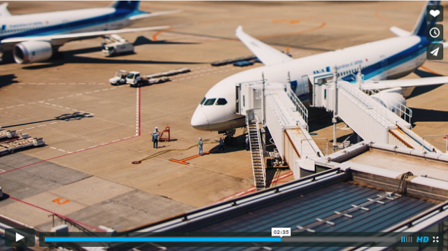 Camera effects turn Haneda Airport into a cute toy-like playground【Video】