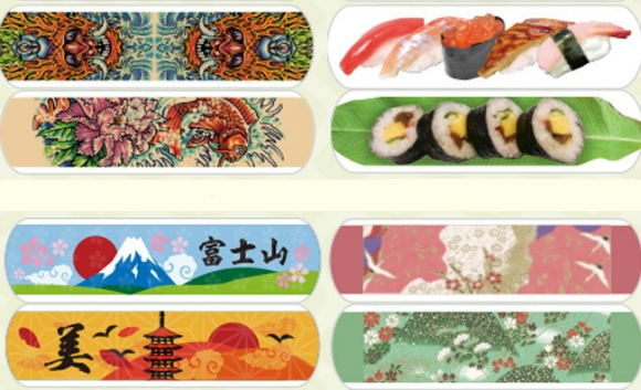 Turn minor cuts and scrapes into fashion statements with these cute Japanese bandage designs