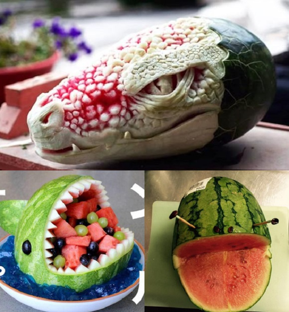 Cool watermelon art helps Japan's Twitter users beat the summer heat