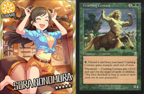 What do Magic: The Gathering and Idolmaster have in common? Apparently, quite a bit!
