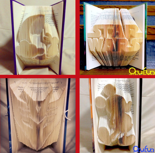 Origami for books! Turn your old hardcovers into awesome 3-D art with OruFun