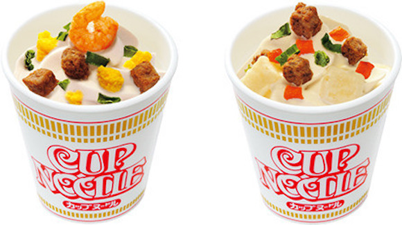 Ramen ice cream topped with freeze-dried beef cubes now available in Japan! (*barf*)
