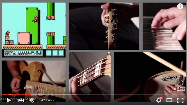 Ridiculously talented musician reproduces Super Mario Bros. 3 music & sound effects 【Video】