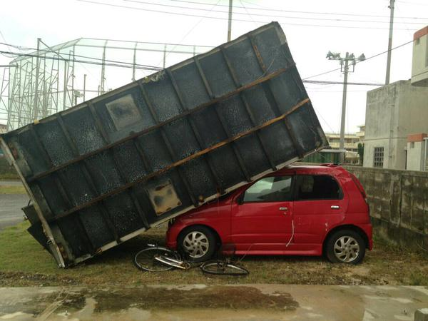 Typhoon Goni slams Japan, seems to have a vendetta against its cars 【Photos】