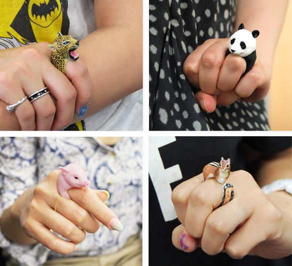 Who needs diamonds? These animal cling rings are the cutest you'll ever see