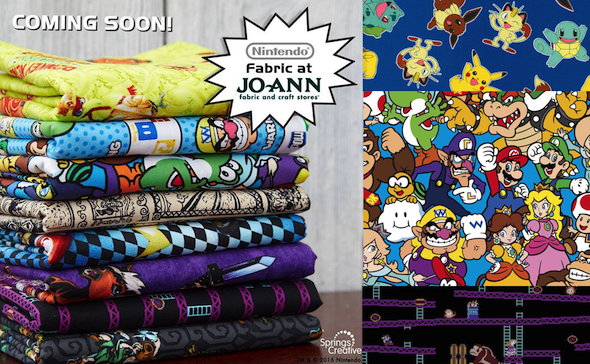 Nintendo fans, get your sewing machines ready! Official Nintendo fabrics now available to buy