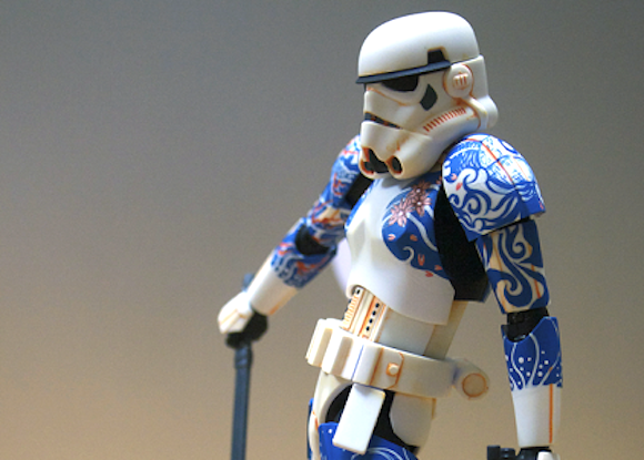 Artist creates unique badass Stormtrooper covered in Japanese tattoos
