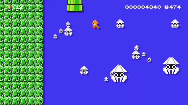 Splatoon's Inklings get a retro makeover in Super Mario Maker【Video】