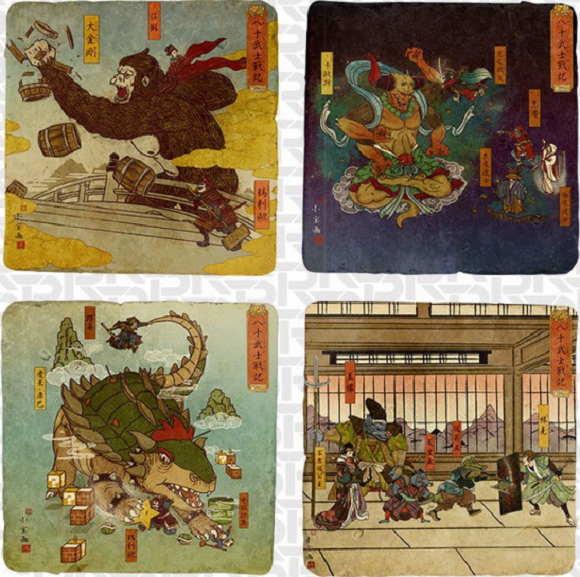 Mix of classic Japanese art style and video games makes for some beautiful results 【Photos】