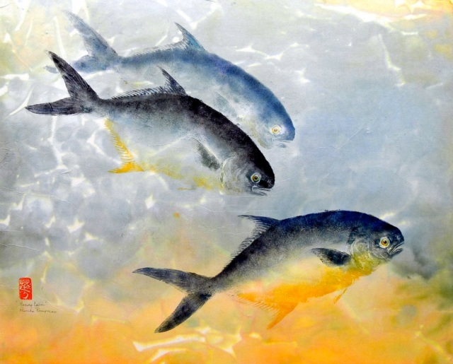 The surprising and little-known Japanese art of gyotaku: culinary prints made with real fish
