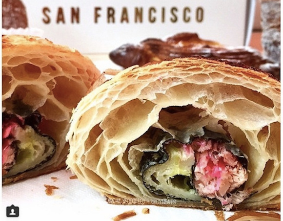 It's the California Croissant … where western baking meets sushi!