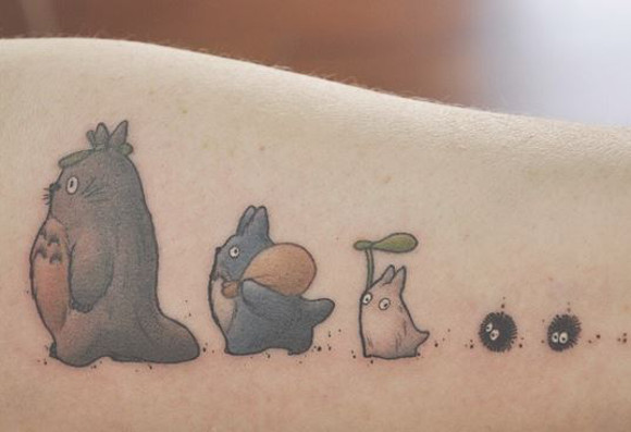 Studio Ghibli tattoos feature our favourites from Totoro, Spirited Away and Howl's Moving Castle