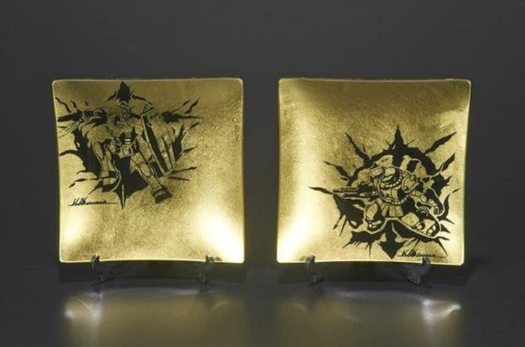 Turn over a new gold leaf with these stylish Gundam dishes from the Gundam Cafe