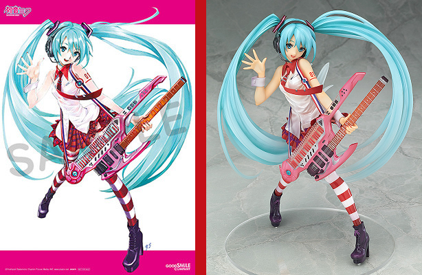 Evangelion designer's Hatsune Miku illustration steps into the physical world as cool new figure