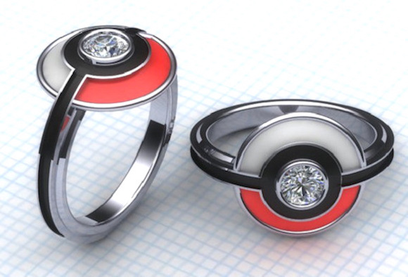 Pop the question with geek chic Pokémon, Zelda, and Dragon Ball engagement rings