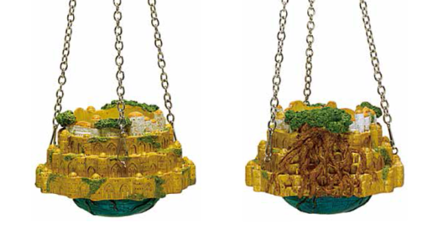 Castle in the Sky becomes a Ghibli decoration in your home with cool Laputa hanging planter