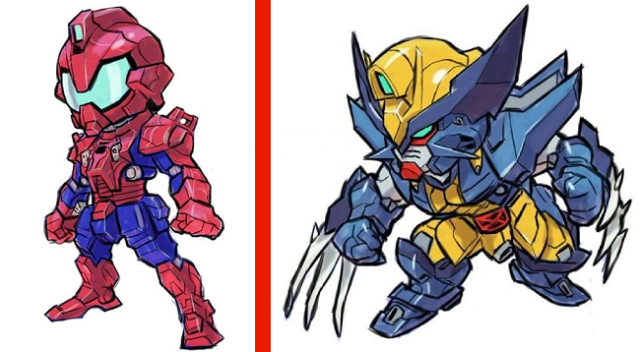 Gundam robots and Marvel characters combine and make new art we definitely need 【Photos】