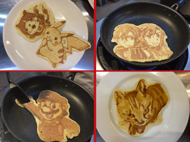 Japanese restaurant makes awesome anime and game character pancake art, takes requests 【Videos】