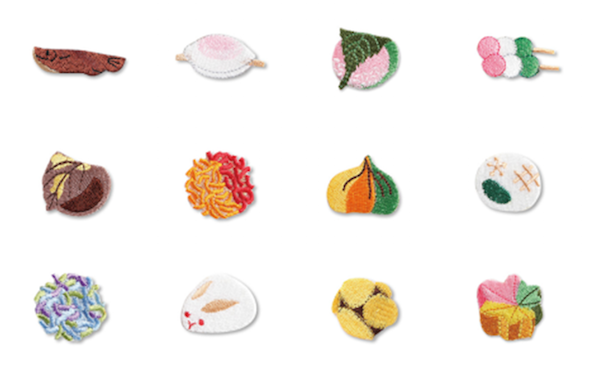 Kyoto store makes embroidered badges, tests our knowledge of traditional Japanese sweets