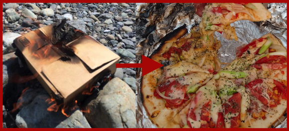 Cooking pizza in a burning cardboard box, and other unconventional recipes