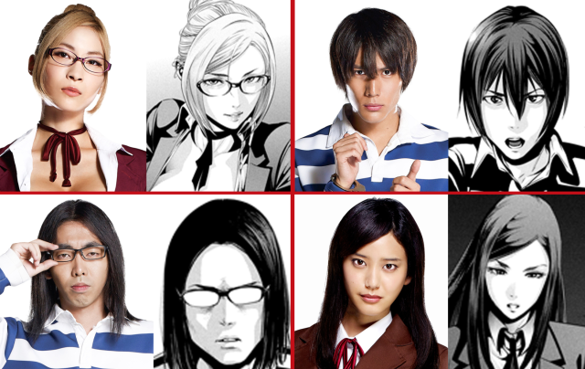 Prison School's live-action cast appears in costume, looks the part of its anime inspiration