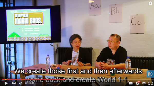 Super Mario Bros. creator explains how and why he designed World 1-1 of the 8-bit classic 【Video】