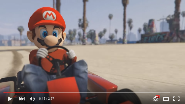 Mario mod goes on violent rampage in Grand Theft Auto V【Video】
