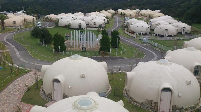 You'd never guess this strange bubble house village is located in Japan