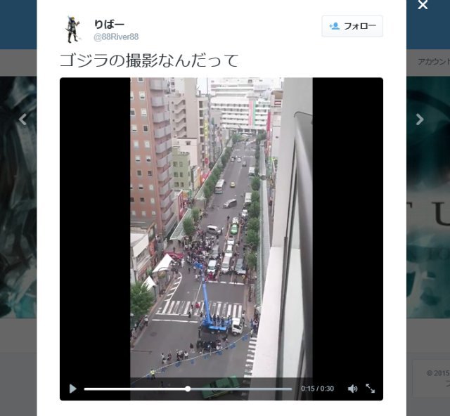 Screaming crowds stampede through Tokyo as new Godzilla movie starts filming 【Video】