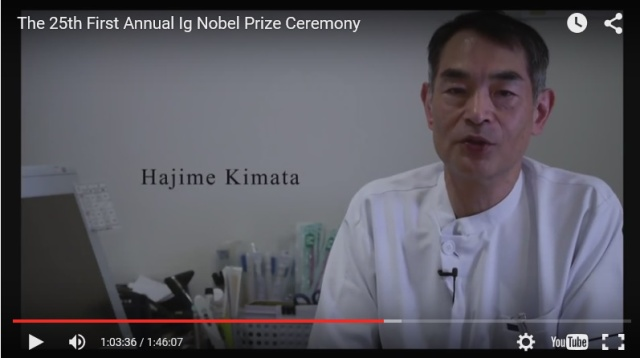 Osaka doctor wins Ig Nobel Prize for discovering kisses can reduce allergic reactions