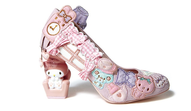 Cute shoe range from Sanrio features bejeweled loafers and pumps with My Melody armchair heels