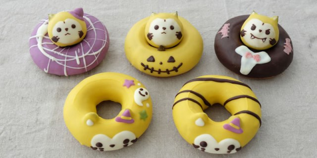 Trick or treat? How about both with these adorable Rascal the Raccoon-themed Halloween donuts