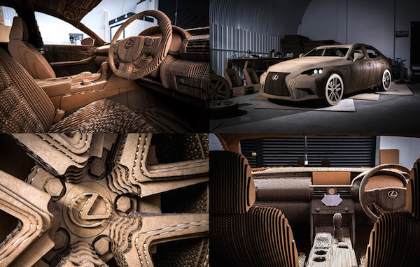 Lexus pays homage to its Japanese workers by building a driveable origami car out of cardboard