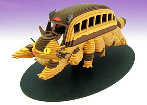 Catbus from My Neighbor Totoro comes to life with ingenious lasercut paper set from Studio Ghibli