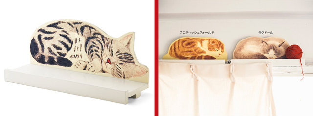 Japanese cat-shaped curtain rail decorations tie your interior together with feline awesomeness